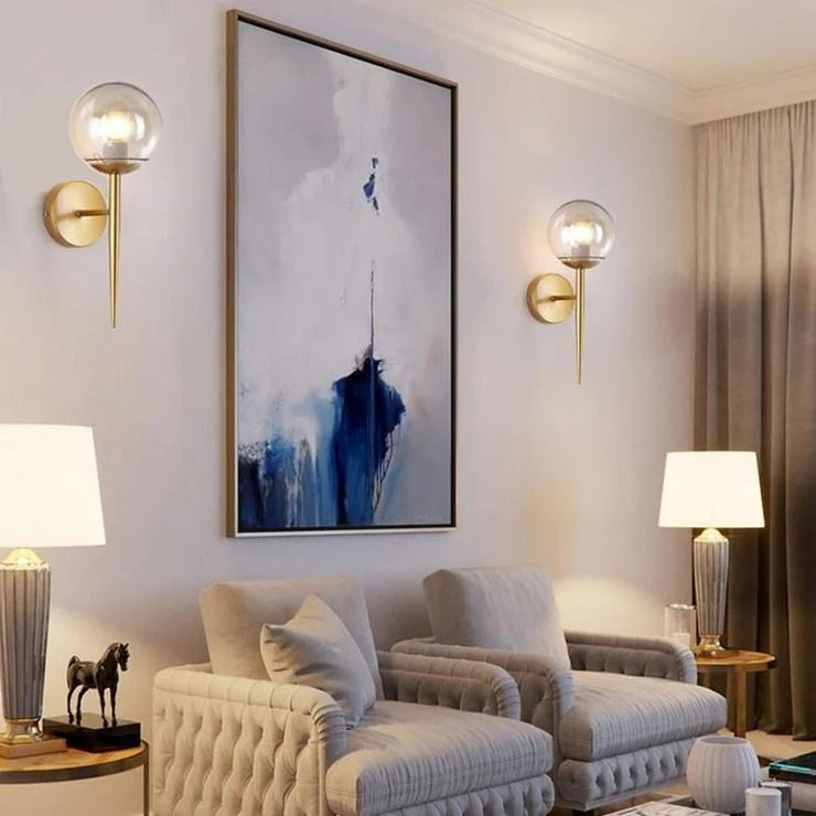 đèn trang trí gắn tường phòng khách Megaman